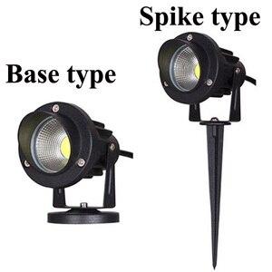 Image 2 - LED COB مصباح إضاءة حديقة 3 واط 5 واط 10 واط في الهواء الطلق سبايك مصباح حديقة مقاوم للماء مصباح إضاءة Led خفيف حديقة مسار الأضواء AC110V 220 فولت DC12V
