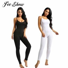 7d040127e4 Women Adult One-piece Catsuit Bodysuit Sleeveless Footless Stretchy Slim  Fit Tank Unitard Yoga Dance