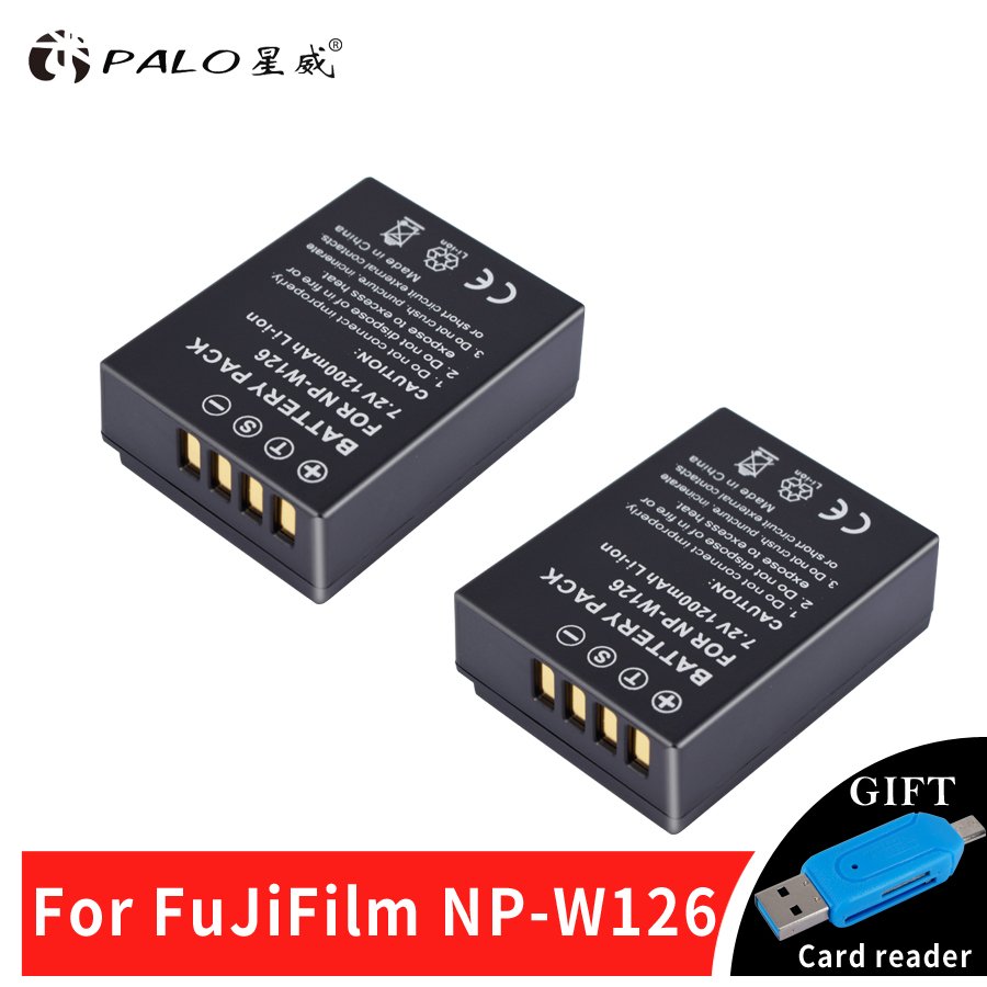 2pc NP W126 NP-W126 NPW126 Replacement Battery 1200mAh for Fujifilm FinePix HS30EXR HS33EXR HS50EXR X-A1 X-E1 X-E2 X-M1 X-Pro1