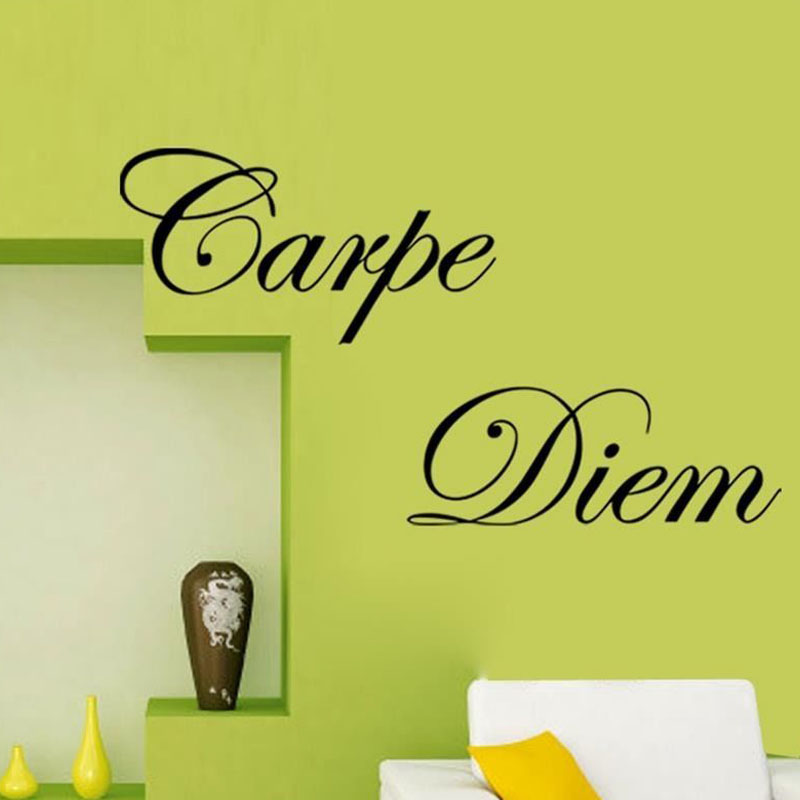 DCTOP Carpe Diem DIY Wall Sticker For Living Room Removable Home ...