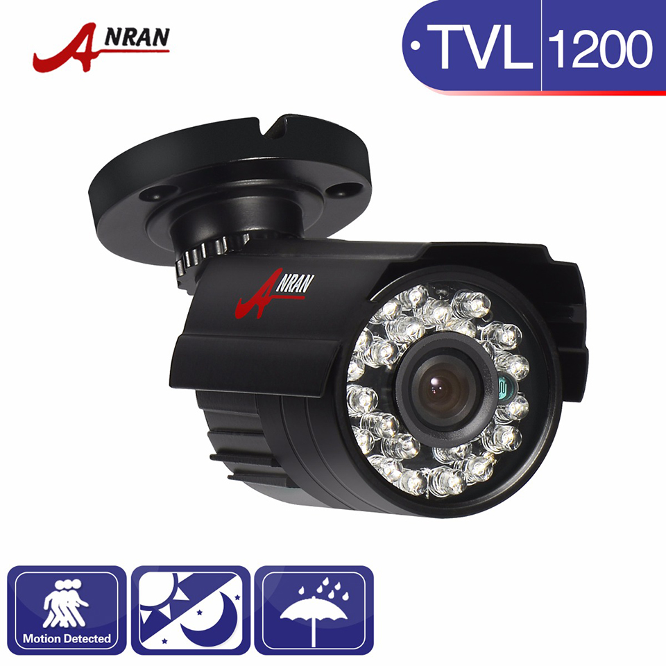 ANRAN CCTV HD 1200TVL SONY CMOS 24 IR Extérieur Jour Nuit Surveillance Vision Sécurité Grand Angle Étanche Caméra IR-Cut