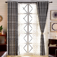 Modern Style Stone Stripe Wave Curtains For Living Room Bedroom Window Balcony Drapery Custom Made Geometric