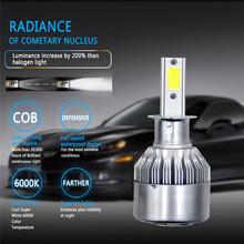 2PCS Car accessories LED Bulbs Headlights Motocross H1 880 9004 9005 9006 9007 H3 H4 H7 H11 For bmw e46 ford focus 2 audi a3(China)