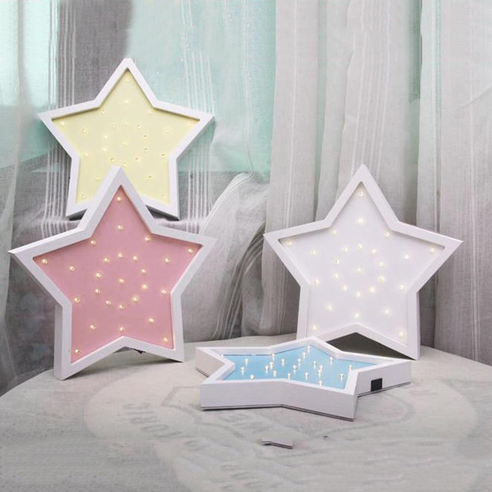 Baby Slaapkamer Te Koop.Beste Koop 3d Creatieve Mode Ster Vorm Houten Led Nachtlampje Voor