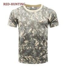 Уличные камуфляжные рубашки для кемпинга тактические футболки мужские походные охотничьи быстросохнущие армейские камуфляжные военные рубашки с коротким рукавом