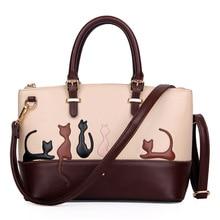 Frauen Handtaschen Frauen Nette Katze Kaninchen Pu-leder Umhängetasche Abnehmbarem Gürtel Handtaschen Dame Messenger Crossbody Casual Tote