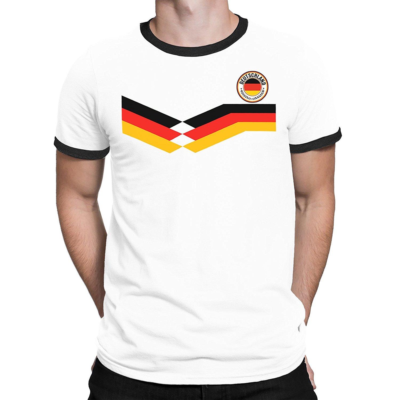 Fashion New Top Tees Tshirts Novelty O-Neck Tops Spirit Deutschland Germany Mens T-Shirt Footballer New Style Retro Graphic Tees
