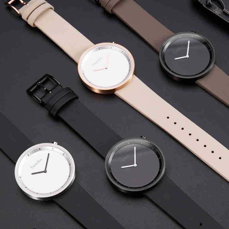 Bestdon New Top Luxury Quartz Watch Men/Women Brand Men's Watches Genuine Leather Strap Concept Quartz Wristwatch Fashion Clocks kingsky new fashion small women watches famous design quartz watch black pu leather strap wristwatch