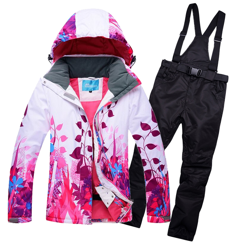 Skiing & Snowboarding New High Quality Women Skiing Jackets And Pants Snowboard Sets Thick Warm Waterproof Windproof Winter Female Ski Suits