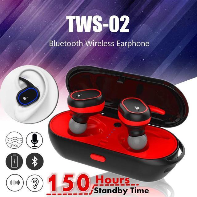 616339eef60 TWS inalámbrica auriculares V4.2 Bluetooth gemelos deporte inalámbrico con  caja del cargador para iPhone dispositivos Android