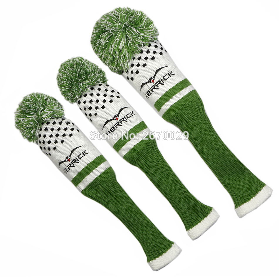 Image 2 - Golf Headcovers 1 Set Wool Knit Golf Clubs Set Fairway Wood Covers Golf Accessories-in Golf Clubs from Sports & Entertainment