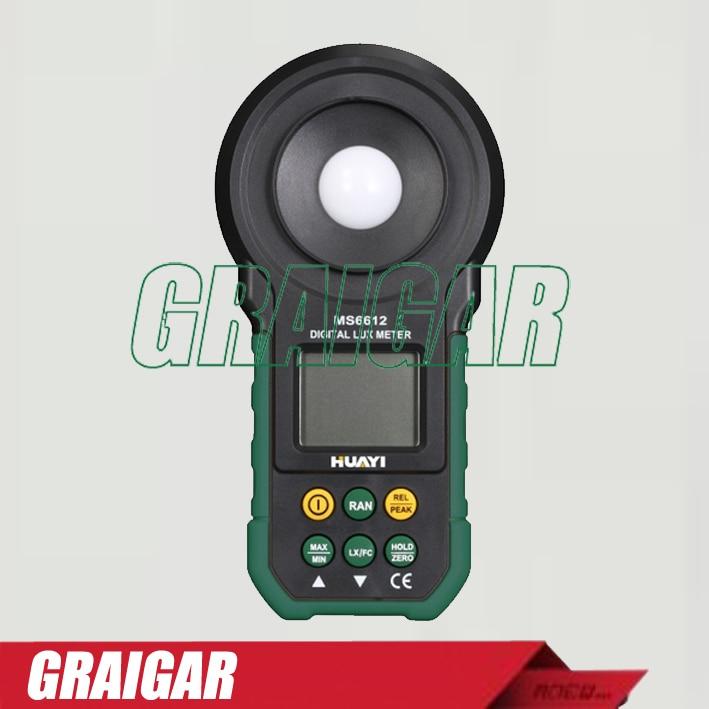 MS6612 Portable Integrated Digital Lux Meter with LCD Backlight portable lcd digital manometer pressure gauge ht 1895 psi air pressure meter protective bag manometro pressure meter