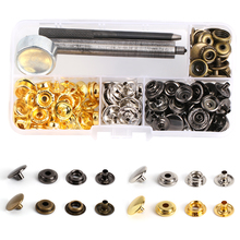 12.5MM 50Sets/Lot Metal Snap Buttons Snaps Press Button Fasteners With 3 Pieces DIY Fixing Press Studs Clothing Sewing Tool 2018 50pcs lot 9 5mm black prong open ring no sew press snaps fasteners brass button nickel rivet free shipping