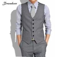 New British Style Men S Fashion Waistcoat Joker Trend High Quality Waistcoat Leisure Suit Vest