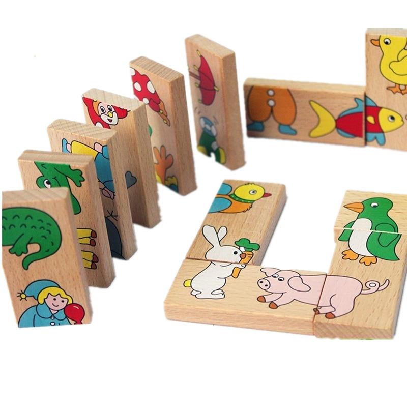 2017 New Kids Soft Montessori Wooden Puzzle Toy Set 15pcs