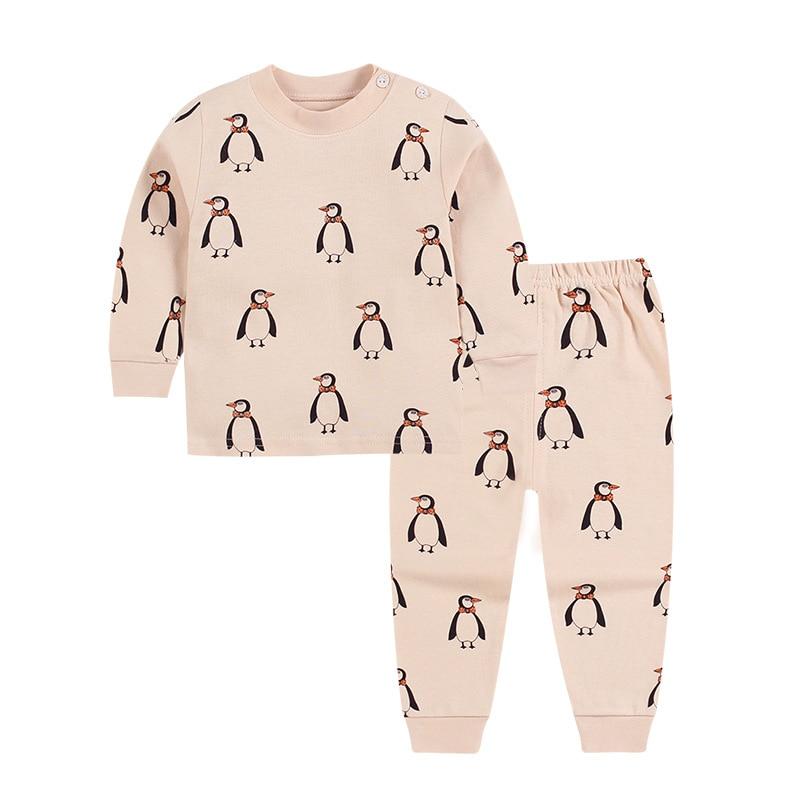 Spring Autumn Children's   Pajamas   For Girls Cotton Kids   Pajamas     Set   Cartoon Boys Girl Sleepwear Suit Baby Underwear Clothing