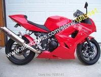 Hot Sales,For Triumph 600 650 Daytona Fairing 2003 2004 2005 Daytona650 Daytona600 03 05 All Red Aftermarket Motorycycle Fairing