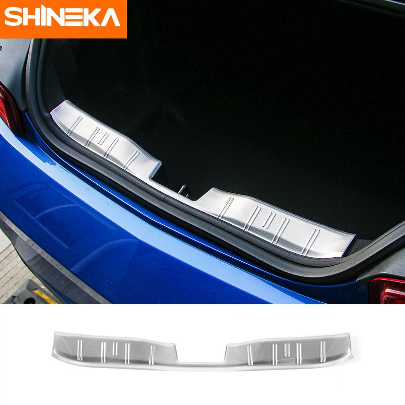 SHINEKA Rear Trunk Bumper Guard Trunk Entry Door Protector for Chevrolet Camaro 2017