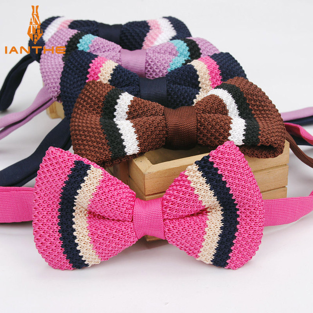 2018 Brand New Mens Knit Bowtie Wedding Butterfly For Men Neckwear