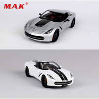 Collection 2014 Corvette Super Sports Car Model 1:24 Scale Alloy Model Car Opened Door Toys For Fans Boys Children Gifts