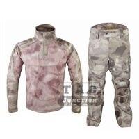 Emerson Все Погоду боевой БДУ единый набор костюм EmersonGear Тактический камуфляжная футболка и штаны Airsoft Военная Одежда для охоты