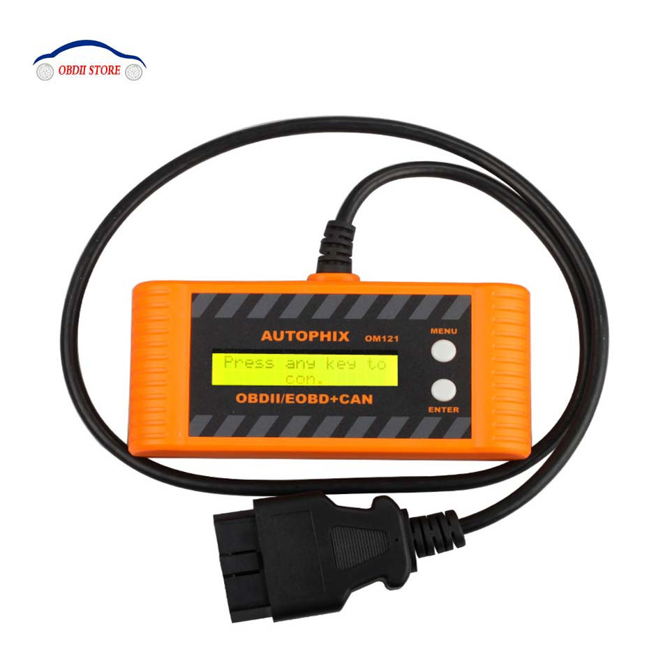 Car OBD2  Auto Scanner Autophix OM121 EOBD obd 2 obd2 CAN Scan tool Code Engine Reader with LCD P2P Interface Diagnostic-tool vgate super scan tool vs600 code reader car diagnostic tool vag obd2 obdii eobd auto scanner automotive diagnostic tool