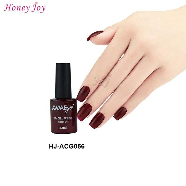Aviiae Romantic Red Wine Color Gel Nail Polish Long Lasting Soak Off Led Uv