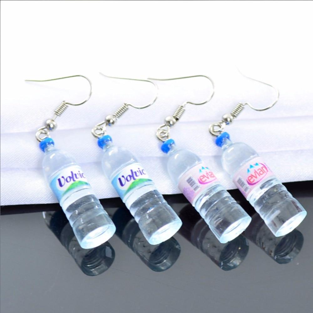 Creative Mineral Simulation Water Bottles Earrings Cute Handmake Earrings Woman Fashion Jewelry #271326 Attractive Fashion