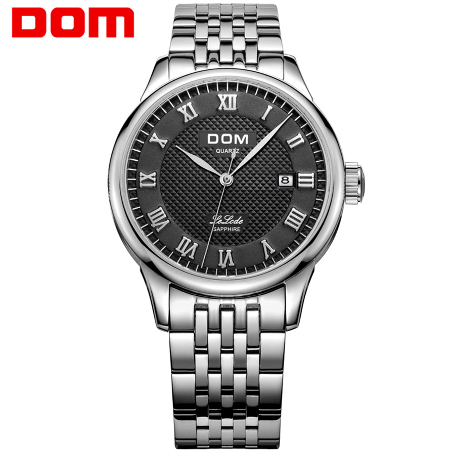 DOM Leather Men Watch 2018 Top Brand Luxury Famous Auto Date Wristwatch Male Clock Waterproof Quartz Watch Relogio Masculino dom leather men watch 2018 top brand luxury famous auto date wristwatch male clock waterproof quartz watch relogio masculino