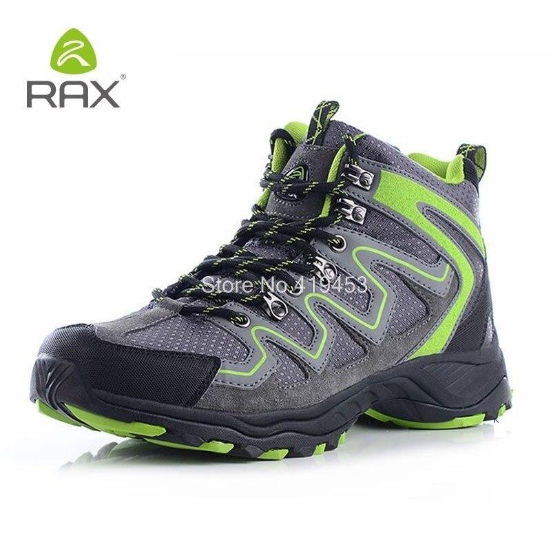 Rax Hommes Randonnée Chaussures Antidérapant Escalade En Plein Air Chaussures de Randonnée Hommes Respirant à lacets Chaussures de Montagne Sport Formateurs D0543