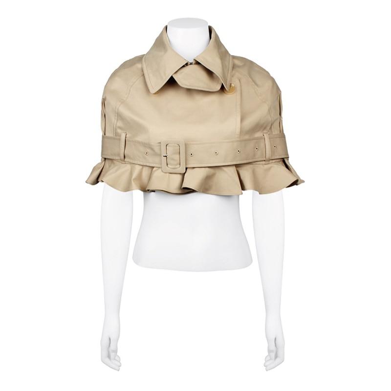 eam Femmes Mode Veste Printemps Manteau Lâche Longues Hem Courte Kaki Nouveau 2019 Khaki Lape De Marée Commune Ruches Jh050 Manches À Fendue ZOBqrZnUx