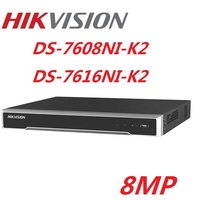 Hikvision English Version DS 7608NI K2 DS 7616NI K2 8CH 16CH Max supports 8MP IPC 4K H.265 NVR Network Digital Video Recorder