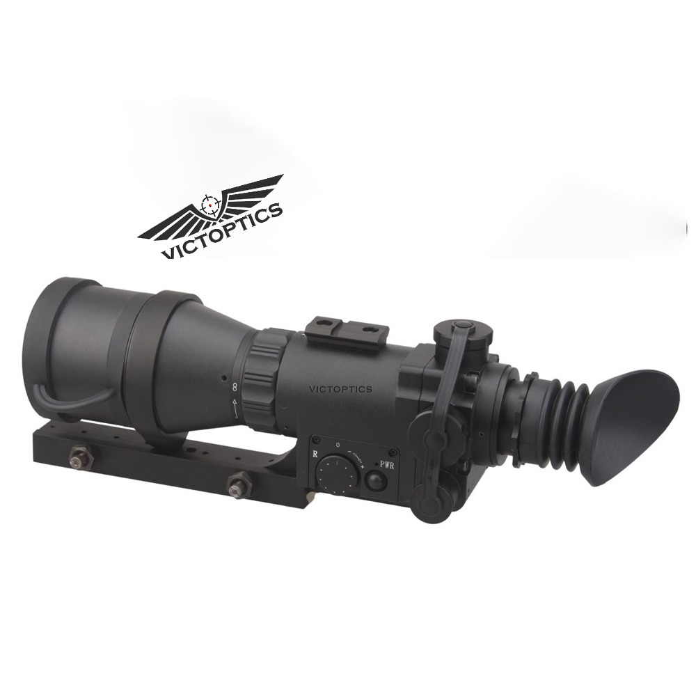 VictOptics 4x60 Monocular Night Vision Scope Riflescope for Hunting Night Shooting With 9 Levels illumination