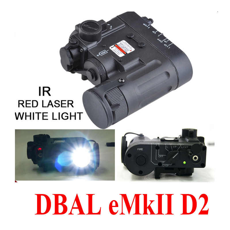 Eleman Taktik El Feneri DBAL-D2 Kırmızı lazer ve IR Lazer ve Led El Feneri DBAL-EMKII Işık (EX328)