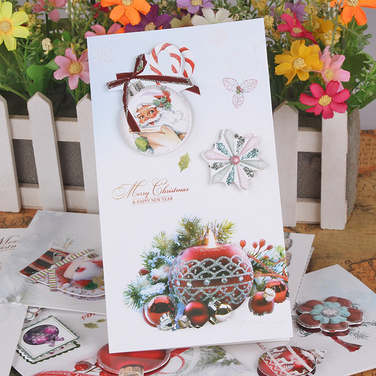 Free ship1lot24pcpopular nice christmas message business card popular nice christmas message business card 3d cardgreeting festival holiday wish paper cards in cards invitations from home garden on m4hsunfo