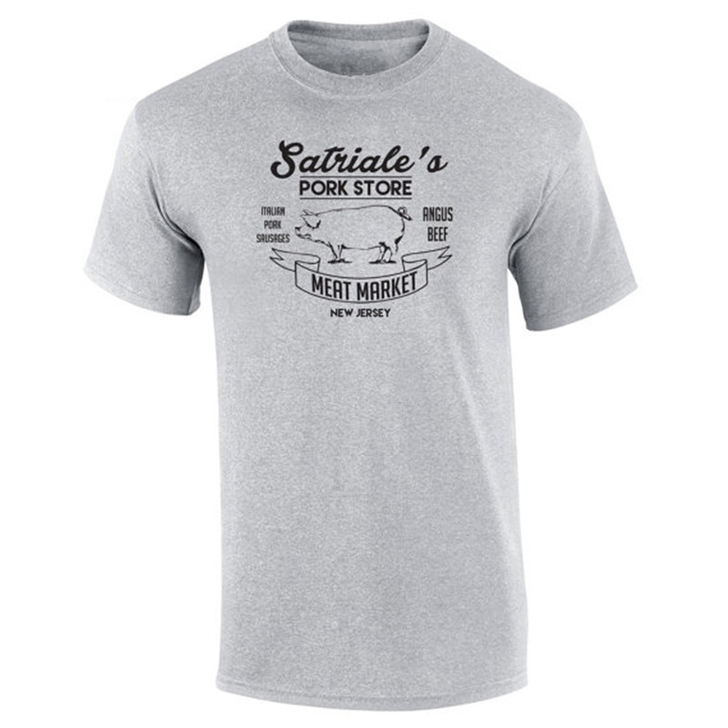 Showtly   Satriale's Pork Store Funny Mob Mafia Sopranos New Costume Vintage Retro Humor Tee Tops Apparel Clothing Mens T-shirt