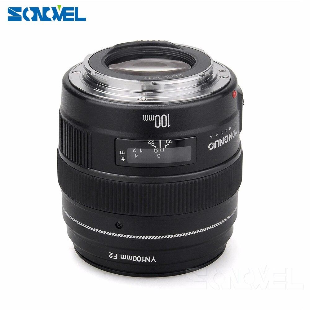 2016 NOUVEAU Yongnuo YN100mm F2 Moyen Téléobjectif Premier Objectif pour Canon EOS Rebel Caméra AF MF 5D4 1300D 800D 760D 750D 77D 60Da 5Ds R - 5