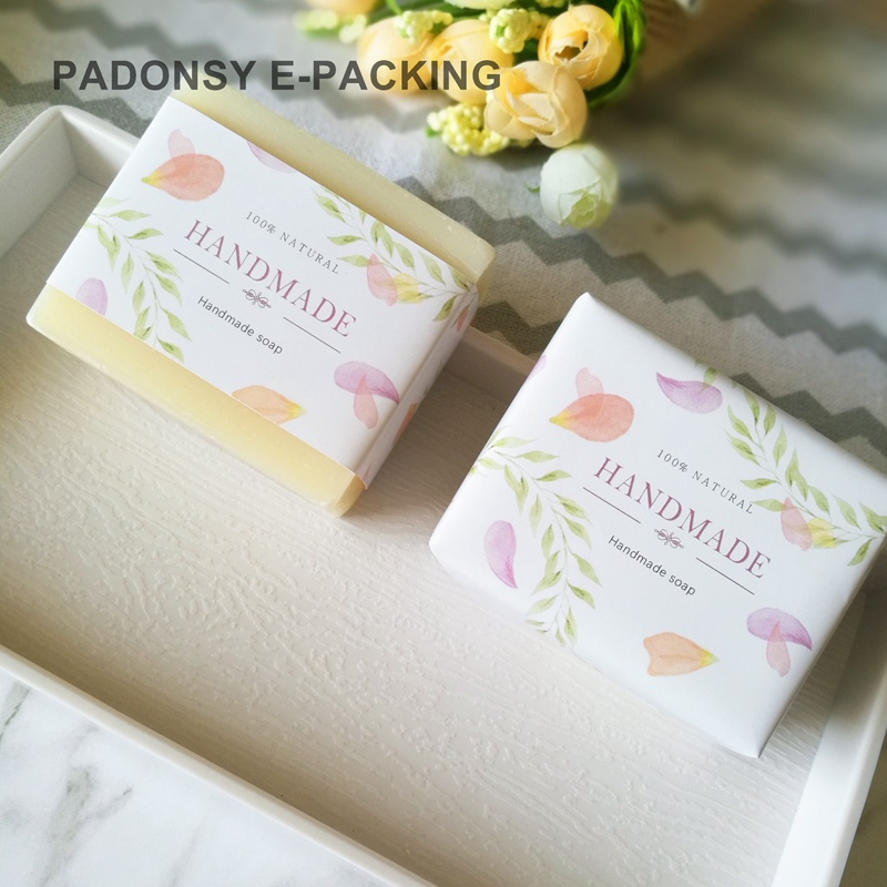 Vintage Flower Natural Soap Wrapping Paper Soap Box Packaging Soap Waist Sealing Wrapper Packing Wholesale