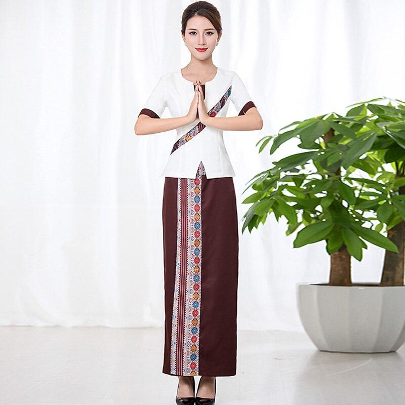High quality thai spa massage beautician uniform womens for Uniform thai spa