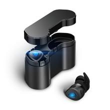 Беспроводной наушники True Беспроводной стерео Bluetooth 4.2 Наушники Портативный Зарядное устройство беспроводные устойчивое Наушники с объемом conctol