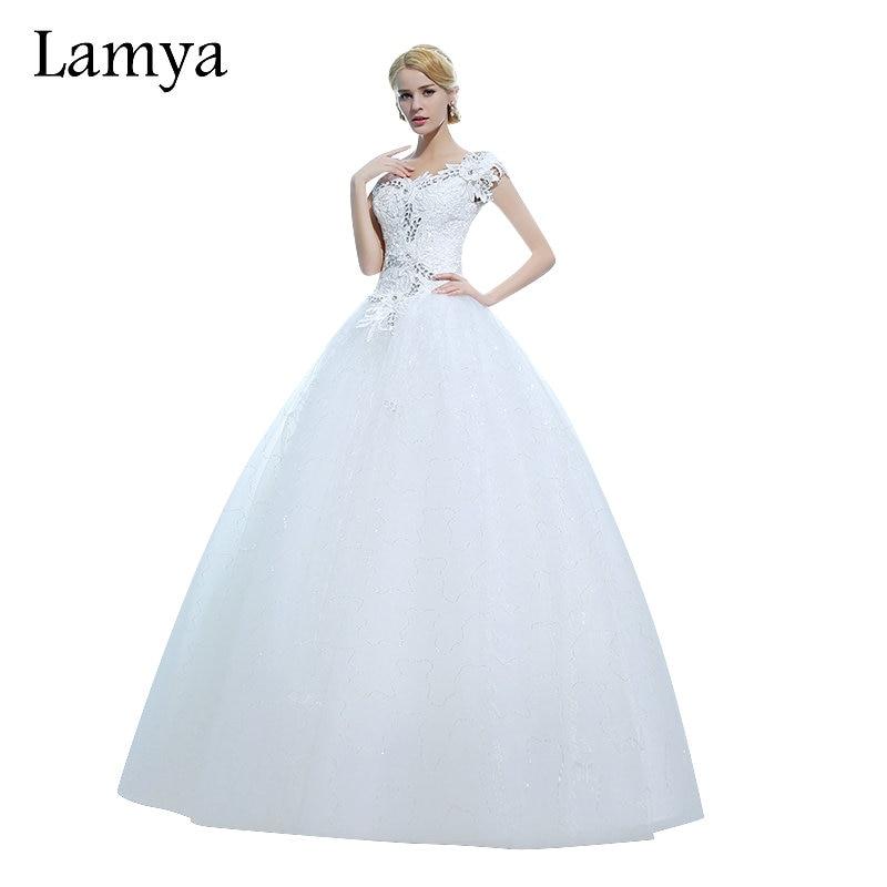 LAMYA Plus Size Lace Fashionable Ball Gown Wedding Dress Sexy Bride ...