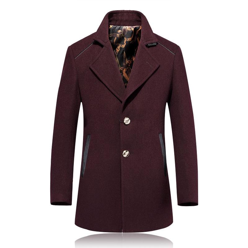 2017 winter trench coat Men woolen zippers Trench Coat Men Outerwear Casual Coat Men's Jacket Windbreaker Men Trench Coat