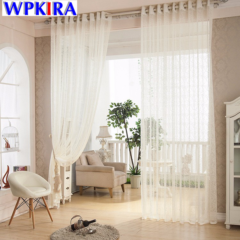 white cream waves voile curtains decorative net tulle curtains