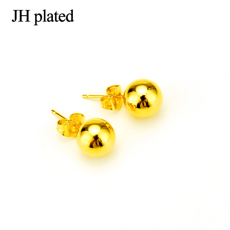 Jhplated Ethiopian Middle East African 24k Ear Stud 4mm