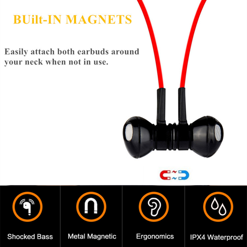 i8 Magnet Metal Bluetooth earphone Wireless headphones for sport Earbuds with microphone headset stereo headphone for iphone se