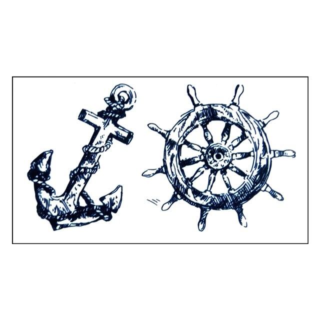 tanche tatouage temporaire autocollant cool homme bateau pirate de transfert de l 39 eau de. Black Bedroom Furniture Sets. Home Design Ideas