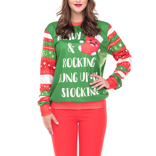 61451749d 2018 Autumn Women Hoodie Casual Womens Merry Christmas Plus Size ...
