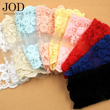 JOD 12.5x100cm Soft Cotton Embroidery Lace Fabric Sewing Accessories Clothing Wide Collar Skirt Decorative Clothes Applications(China)