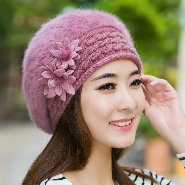 New Winter Beanies Knit Women s Hat Winter Hats For Women Ladies Beanie  Girls Skullies Caps Bonnet Femme Snapback Wool Warm Hat 15cd38d9aae