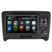 Double din wince car rodia stereo VIDEO dvd gps for Aud  TT with 3g bluetooth steering wheel control reversing camera RDS FM AM
